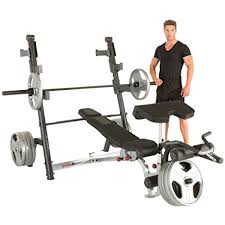 amazon com fitness reality x class olympic weight bench with