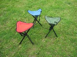big size outdoor camping tripod folding stool portable chair