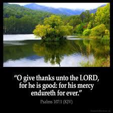 psalms 107 1 inspirational image