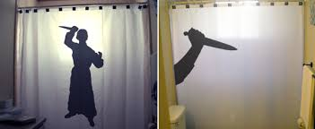 Safari Bathroom Ideas Psycho Knife Killer Halloween Shower Curtain Funny Shower