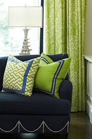 Navy And Green Curtains Navy Blue Green Living Room This Color Combination