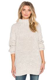 Free Northern Lights Sweater In Sanctuary Oval Mock Neck Sweater In Silver Style Lust