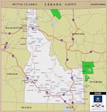 map of idaho map of idaho travelsfinders