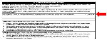 Appraisal Rebuttal Letter 1004d appraisal update vs completion certification