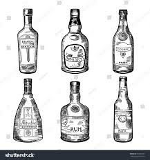 alcoholic drinks bottles different alcoholic drinks bottles vector illustration stock