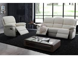 fauteuil et canapé canapé ou fauteuil relax en cuir 3 coloris milagro