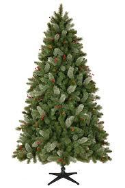 impressive decoration tree 7 5 pre lit ft asheville pine