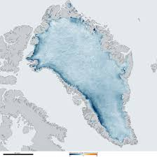 Greenland On World Map by Greenland Ice Sheet Getting Darker Noaa Climate Gov