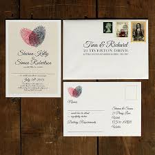 Thailand Wedding Invitation Card Fingerprint Heart Wedding Invitation And Save The Date By Feel