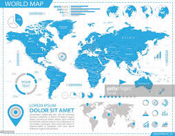 Canada World Map by World Map Infographic Map Illustration Vector Art Getty Images
