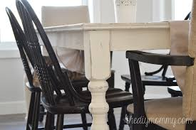 Chalk Paint Table And Chairs A Shabby Chic Farmhouse Table With Diy Chalk Paint The Diy Mommy