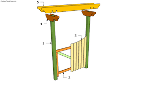 free garden arbor plans how to build garden trends