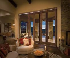 Custom Sliding Patio Doors Alder Wood In Antique Chestnut Finish Multi Slide Patio Doors