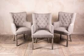 Linen Dining Chair French Style Dining Chairs In Stone Linen