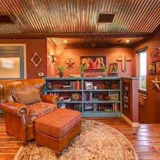 Wood And Leather Chair With Ottoman Design Ideas Southwestern Style Homes With Tin Roof And Leather Chair With