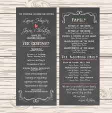 wedding programs printable diy printable wedding program chalkboard 35 00 via etsy