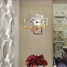 direct selling home decor new arrival 2016 direct selling mirror sun acrylic wall clocks 3d