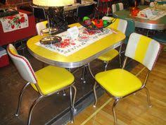Yellow Retro Kitchen Chairs - buy vintage 50 u0027s 60 u0027s kitchen table and chairs at furniture