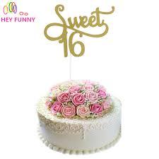aliexpress com buy gold silver black glitter sweet 16 cake
