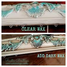 how to apply dark wax over chalk paint ace paints