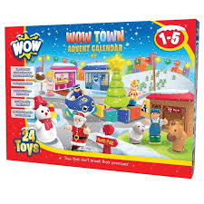 christmas advent calendar wow town christmas advent calendar 24 pc play set educational toys