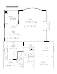 One Room Home Addition Plans Family Room Master Suite Add On Home - Family room size