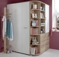 Schlafzimmer Komplett Mit Eckkleiderschrank 3 Tlg Jugendzimmer In San Remo Eiche Nb Alpinweiß Mit Einem