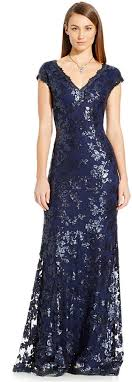 buy cap and gown papell sequin embellished cap sleeve gown where to buy