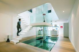 futuristic townhouse with central glass axis idesignarch ultra