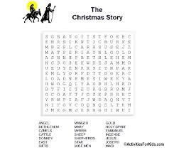 christmas story word search printable for kids word search