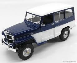 jeep station wagon lucky diecast ldc92858bl wh scale 1 18 jeep willys station wagon