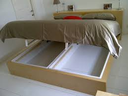 Build Bed Frame With Storage Diy Bed Storage The Budget Decorator