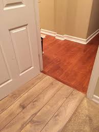 is 2 different wood floors ok from hallway to bedroom