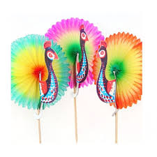 cocktail picks peacock fans 100 pk catering supplies party