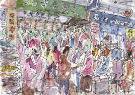 sketches at gwangjang market seoul urban sketchers