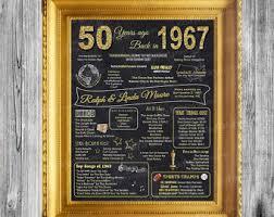 50th anniversary ideas 50th anniversary etsy