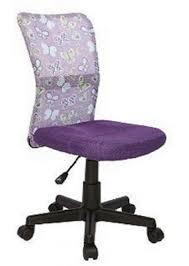 chaise de bureau violette de bureau violet papillon