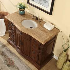 accord 48 inch single sink bathroom vanity roman vein cut