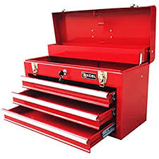 tool box excel tb133 red 20 5 inch portable steel tool box red toolboxes
