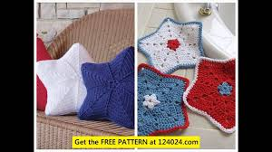 Knitted Cushions Free Patterns Crochet Star Pillow Pattern Youtube