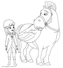sofia coloring pages printable