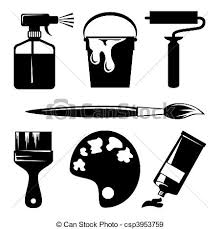 eps vectors of paint set of vector silhouette icons of paint and