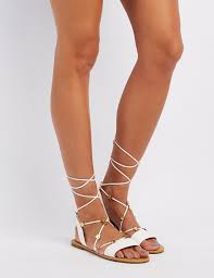 starry faux leather sandals charlotte russe