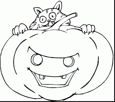 excellent printable halloween pumpkin coloring page with halloween