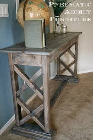 X Console Table Pneumatic Addict Double X Trestle Console