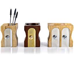 wooden pencil holder plans amazon com uk pencil sharpener desk tidy natural pencil