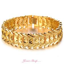 man golden bracelet images Gold bracelets gold plated personalized bracelets women men jeweshop jpg