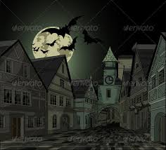 spooky town spooky at town by dazdraperma graphicriver
