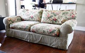 How To Make Sofa Covers The Yellow Cape Cod Ten Year Old Sofa Makeover
