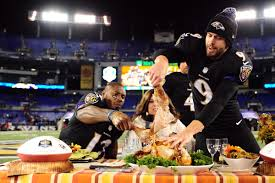 thanksgiving today for thanksgiving ravens are in the community to help the needy